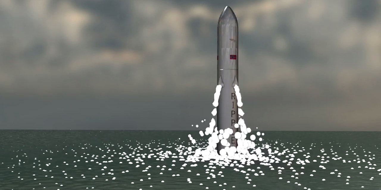 Artist's rendering of a Ripple Aerospace rocket launch.