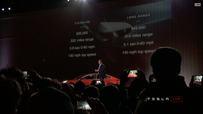 The Tesla Model 3 Will Come in Standard and Long Range Versions