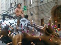 putin wall street bull