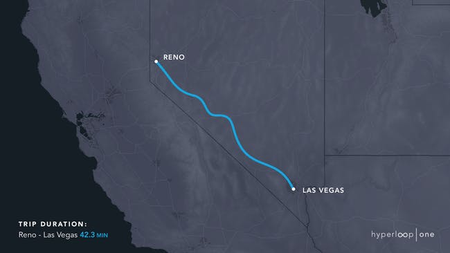 The Nevada route.