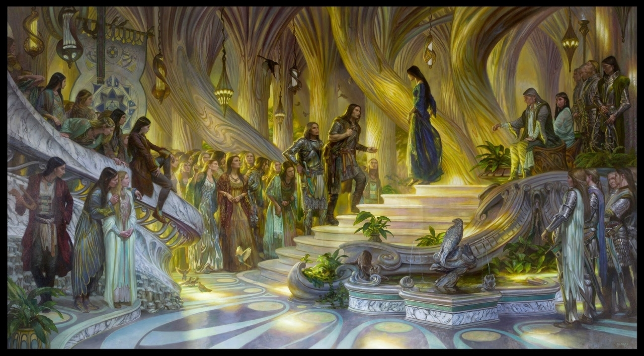 Beren and Lúthien in Thingol's Court
