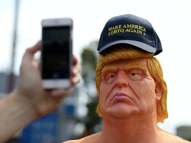 Did the 'Bumfights' Guy Pull This 'Naked Trump' Statue Stunt?