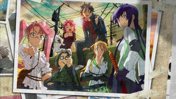 The core group in 'High School of the Dead'.