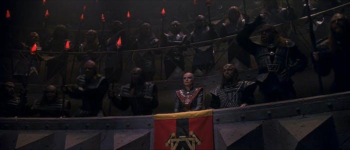 Klingon courtroom in 'Star Trek VI.'