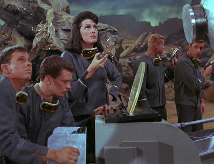 """Number One fires up a phaser canon in """"The Cage"""""""
