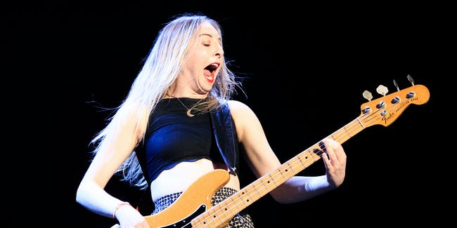 LOS ANGELES, CA - AUGUST 21:  Musician Este Haim of HAIM performs onstage during The 1989 World Tour Live In Los Angeles at Staples Center at Staples Center on August 21, 2015 in Los Angeles, California.  (Photo by Christopher Polk/Getty Images for TAS)