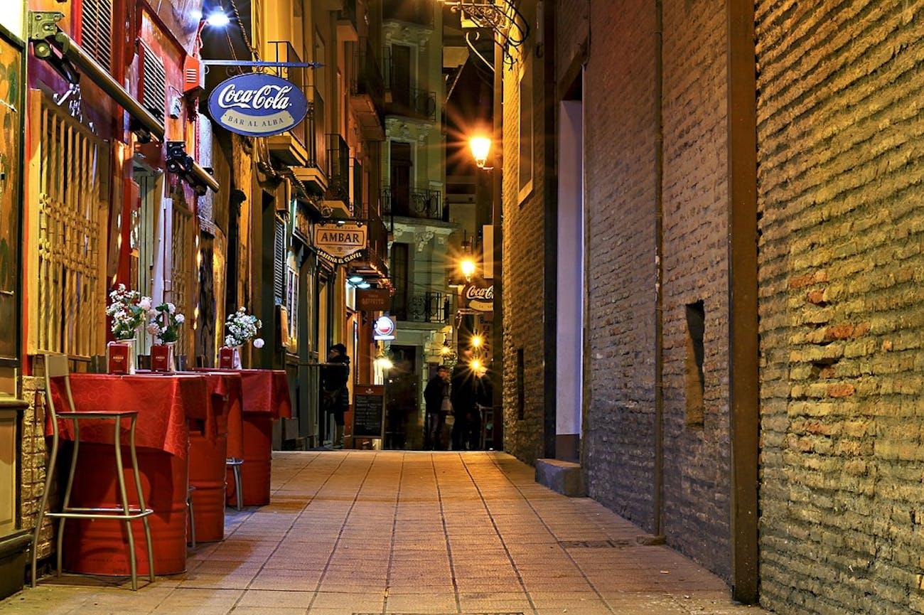 bar, street, city
