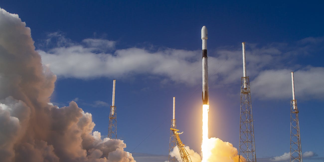 SpaceX's second Starlink mission lifting off from the Cape Canaveral Air Force Base in Florida