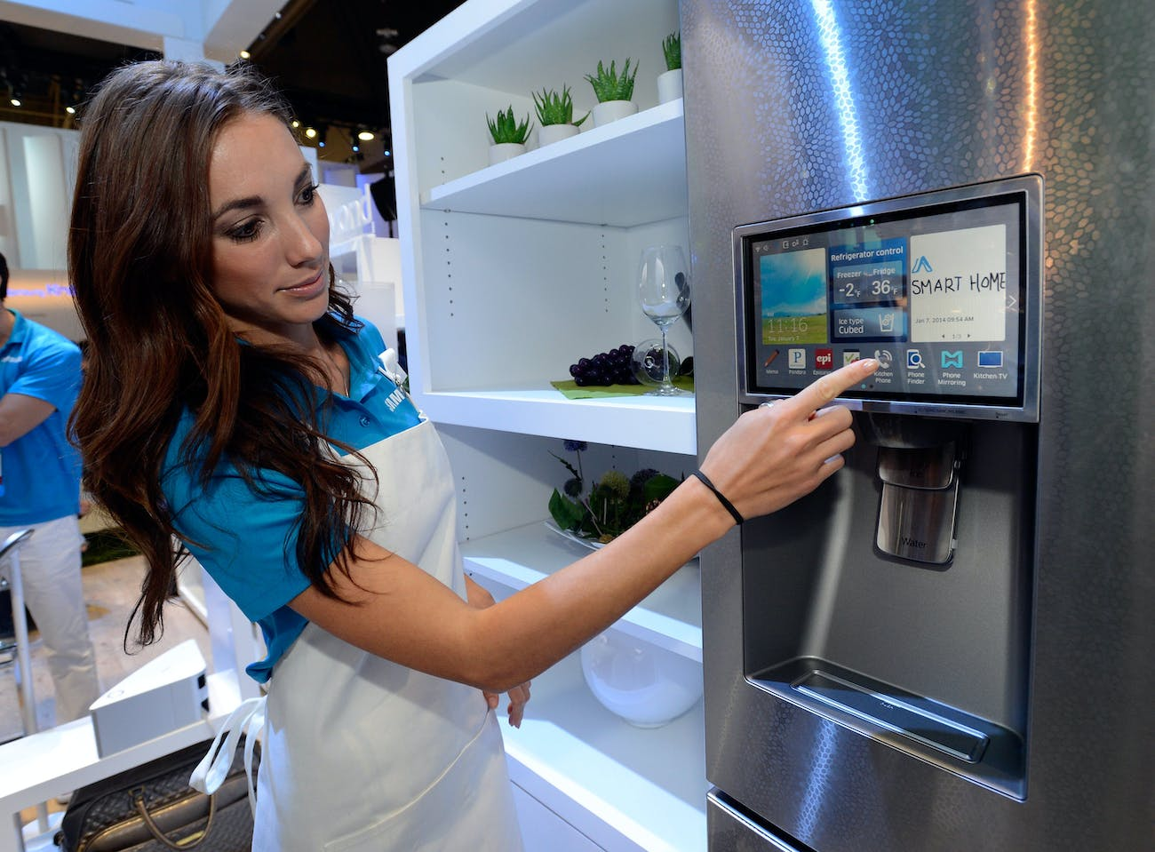 An internet-connected refrigerator.
