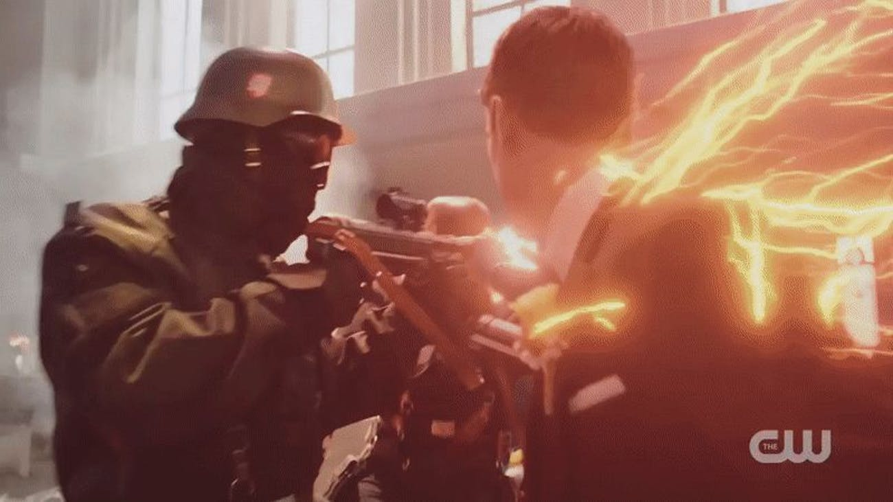Barry Allen punches a Nazi at his own wedding.