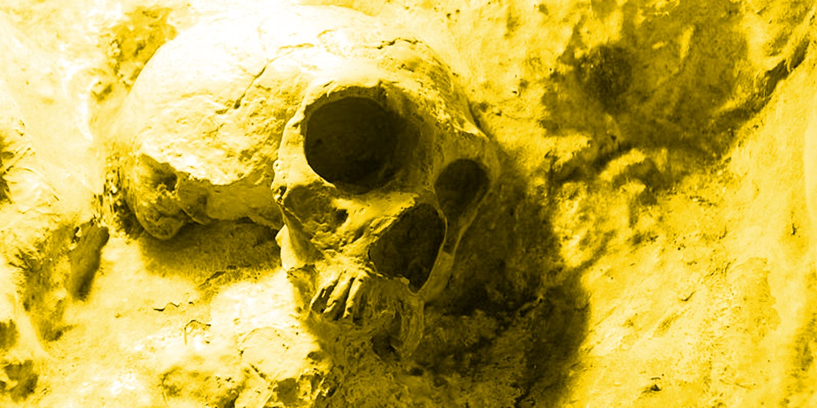 Caption: Neanderthal skulls were found in St. Michaels Cave in Gibraltar.