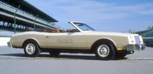 The 1983 Indianapolis 500 pace car, a 1982 Buick Riviera.