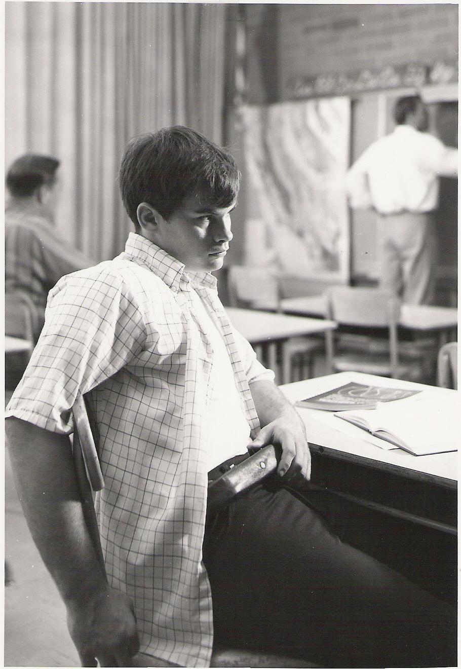 UCLA student wearing a tracking belt