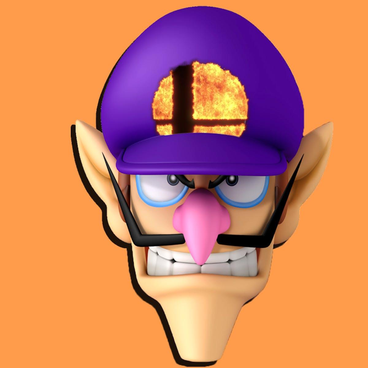 Waluigi character. Super smash bros better