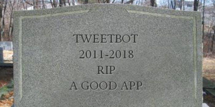 rest in peace tweetbot update