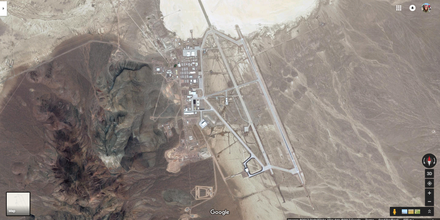 Area 51 Map Google Timelapse Maps Reveal Area 51 in Stunning Detail | Inverse Area 51 Map