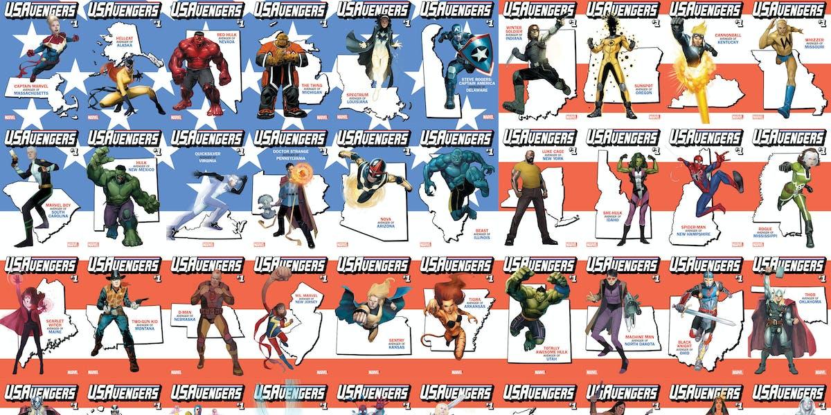 Marvel Avengers Variants