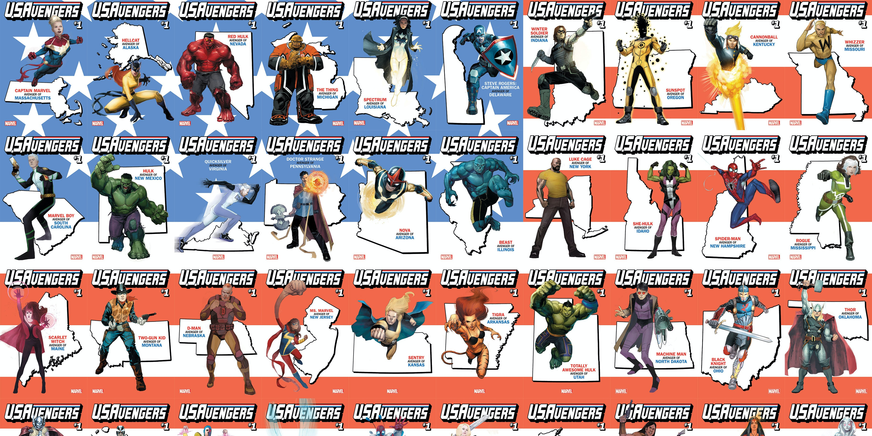 Marvel Avengers Variants