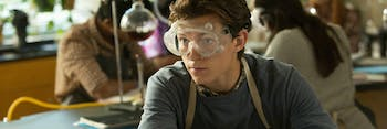 Actor Tom Holland, who is British, didn't fully understand how American high schools worked.