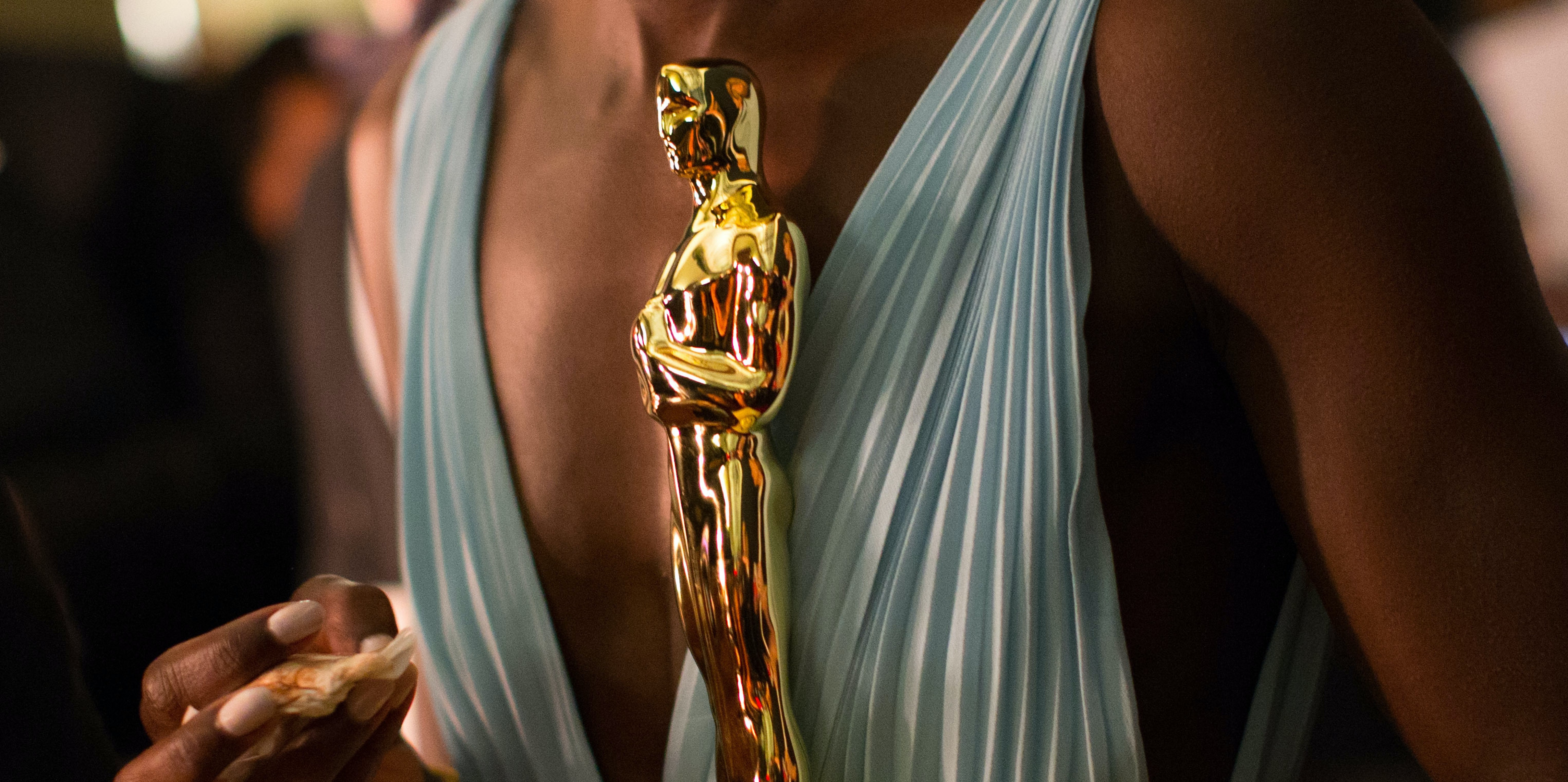 HOLLYWOOD, CA - MARCH 02: Actress Lupita Nyong'o, winner of Best Performance by an Actress in a Supporting Role backstage during the Oscars held at Dolby Theatre on March 2, 2014 in Hollywood, California. (Photo by Christopher Polk/Getty Images)