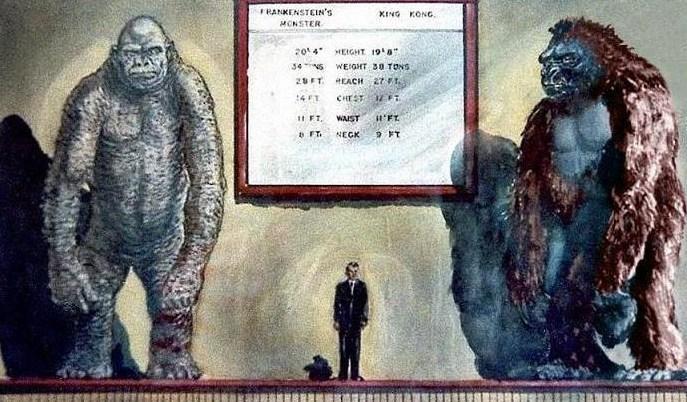 King Kong Godzilla Frankenstein