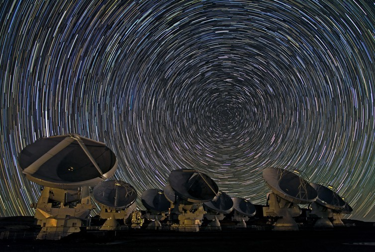 The Atacama Large Millimeter/submillimeter Array is made up of 66 antennas, all pointed at the sky collecting data 24 hours a day.