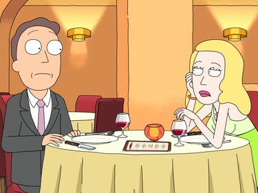 Jerry and Beth Smith at a strained dinner together.