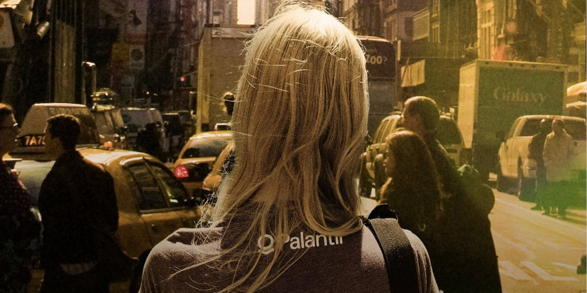 Palantir Technologies promo image from the company's website.