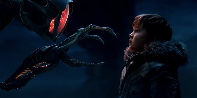 The robot and Will Robinson in 'Lost in Space'