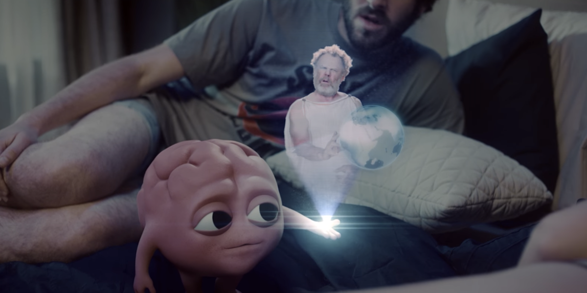 rooz Lil Dicky's New Video Stars John C. Reilly and a CGI Brain image