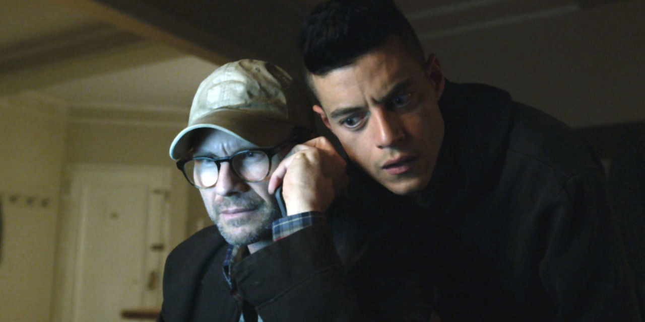 Christian Slater and Rami Malek in 'Mr. Robot' season 2