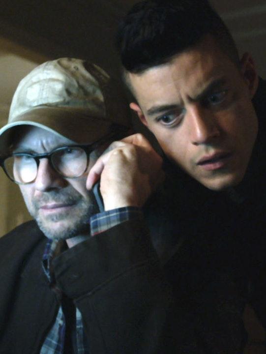 Christian Slater and Rami Malek in 'Mr. Robot' season 2