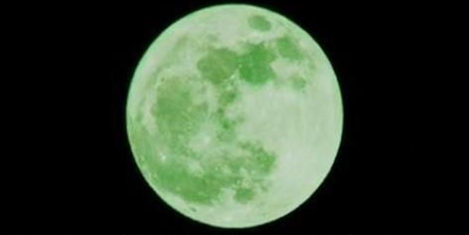 Green moon meme