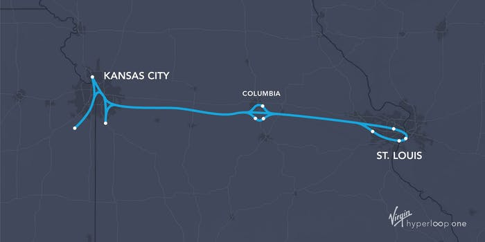Missouri Hyperloop Route