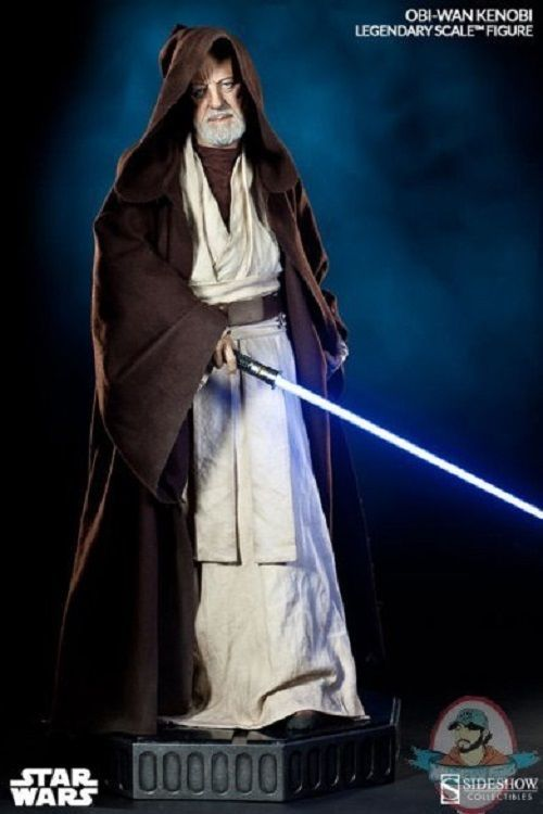 An Obi-Wan Kenobi Legendary Scale Statue from Sideshow Collectibles. Listed at $2,399.99, it is currently the most expensive 'Star Wars' item Man of Action is auctioning off.