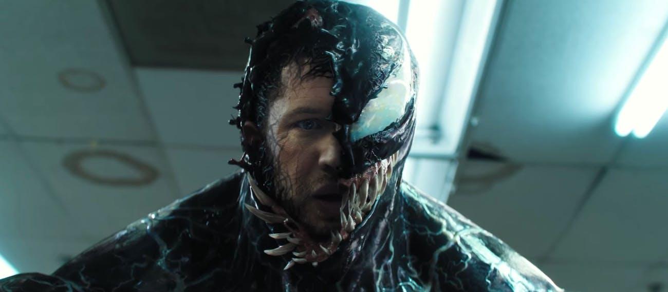 Tom Hardy as Eddie Brock in 'Venom'.