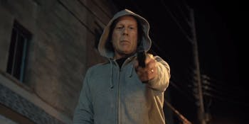 Bruce Willis plays a doctor in 'Death Wish' who goes on a gun-toting rampage after his wife is killed.