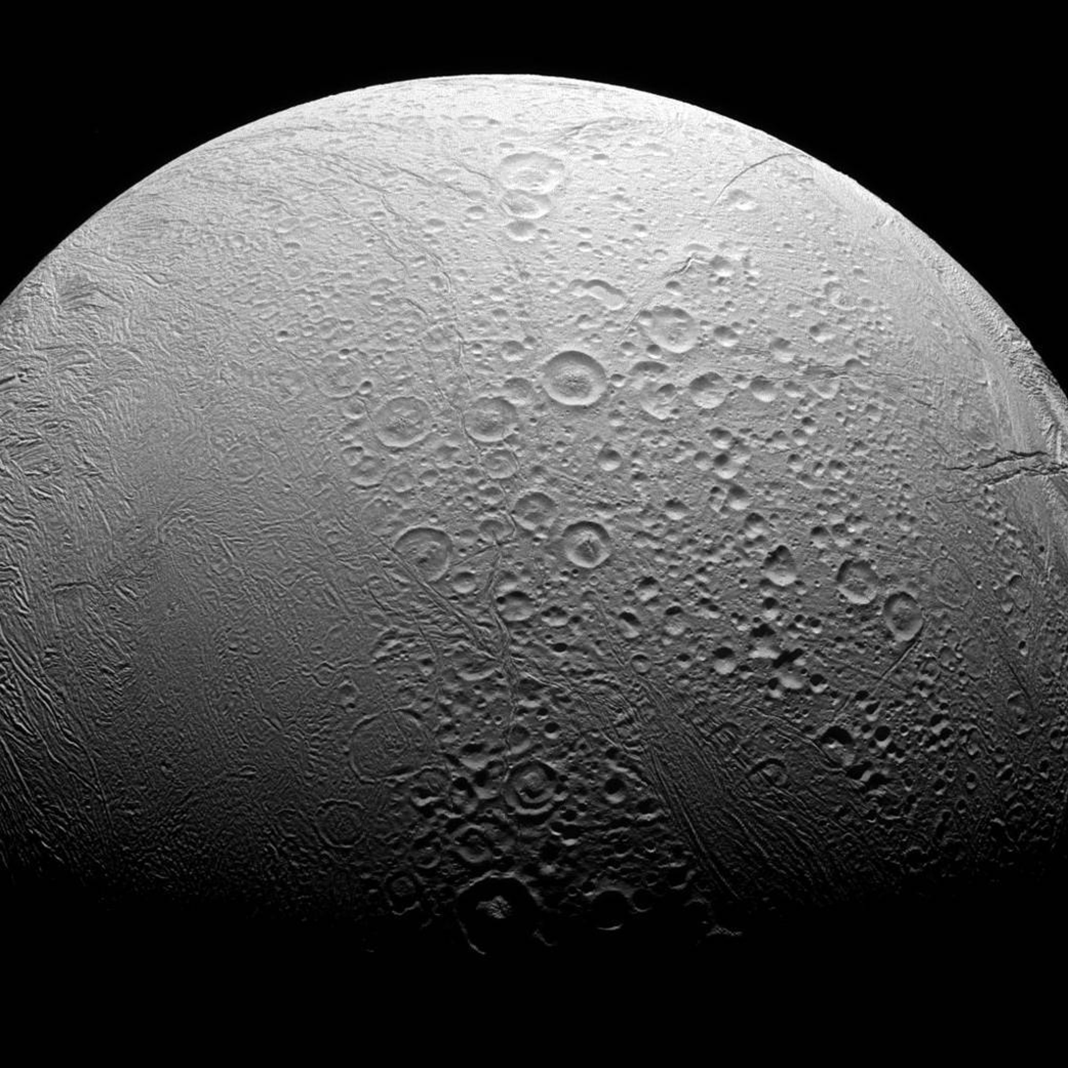 Cassini Snaps a Wrinkly Shot of a Moon Which Might Have Alien Life