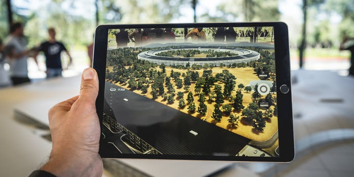 Augmented reality on iPad screen