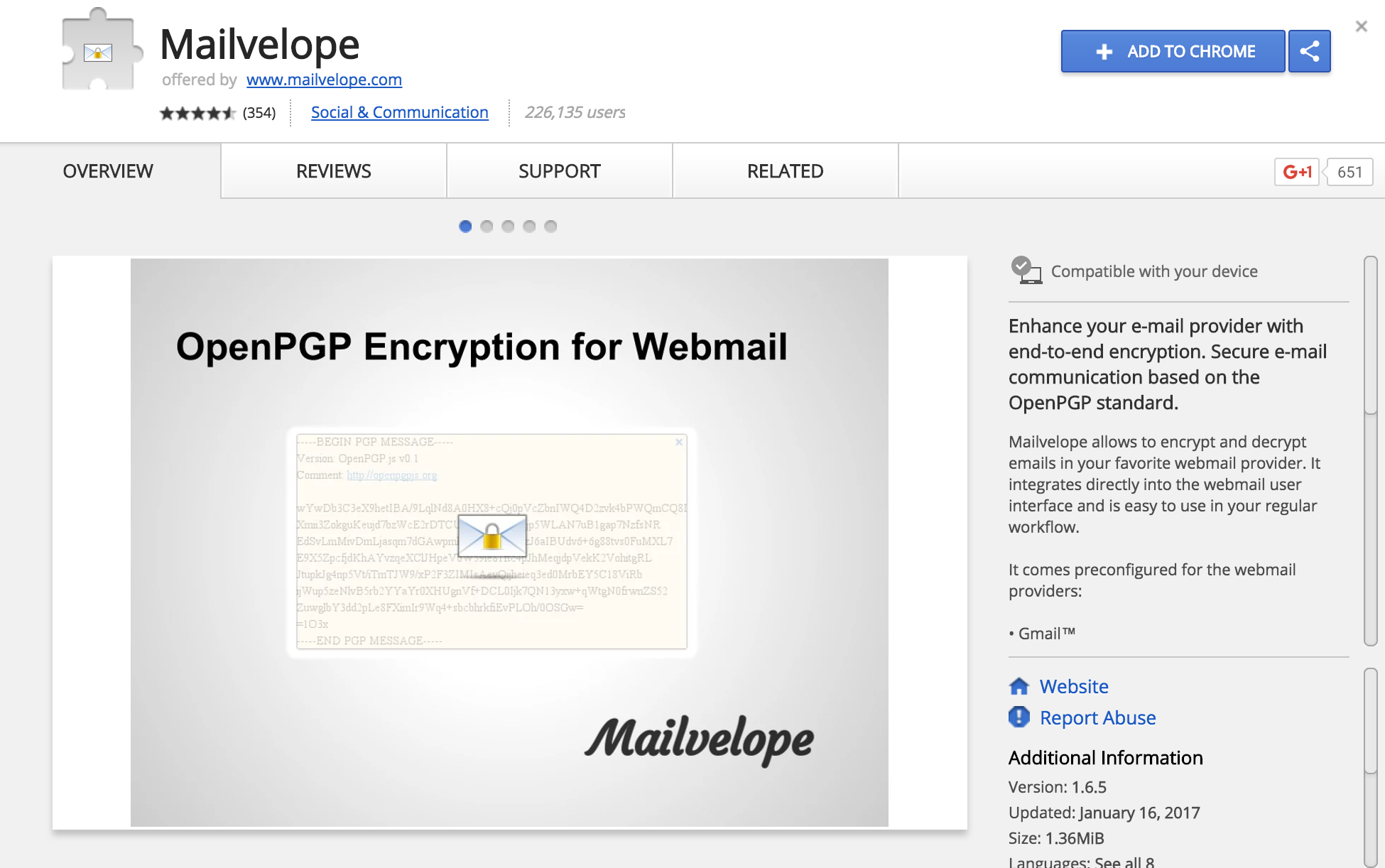 Mailvelope allows you to easily encrypt emails using PGP keys.