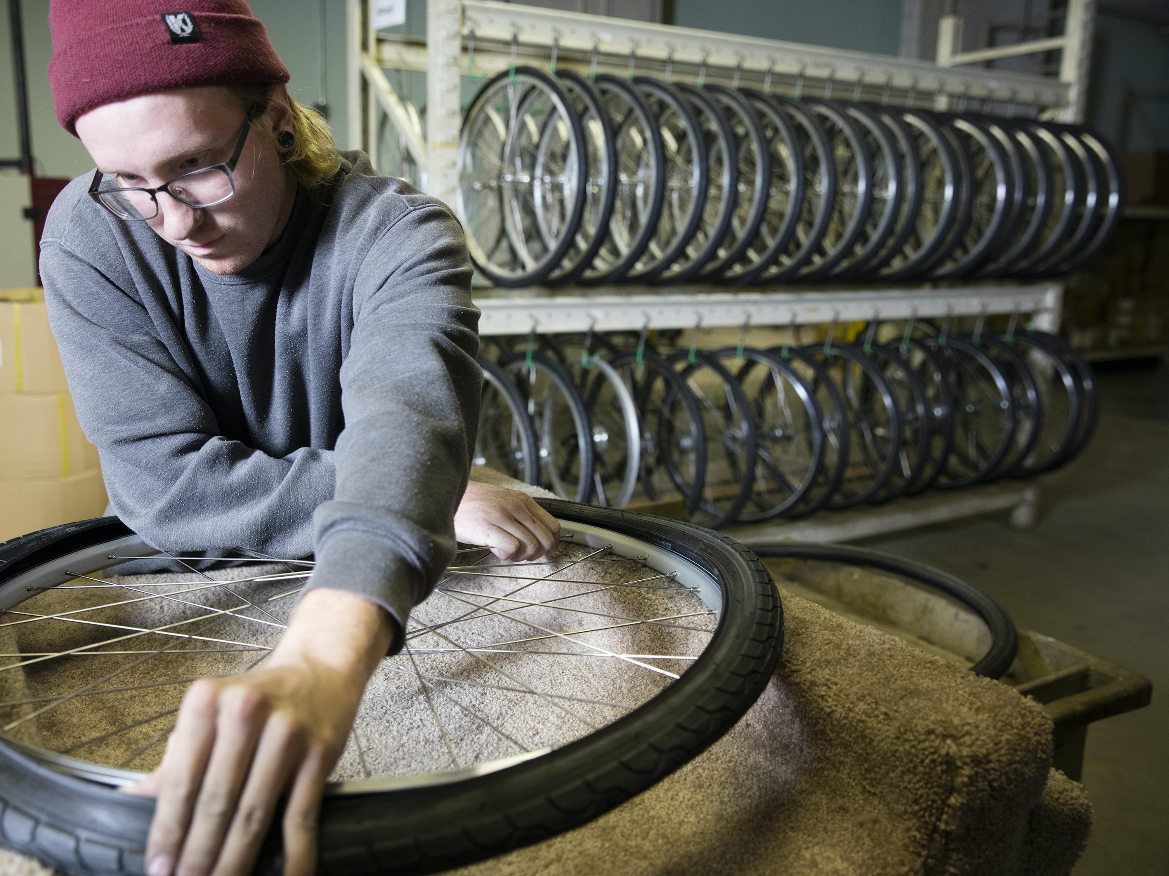 In Detroit, a Bike Company Prepares for a Future with Less Cars