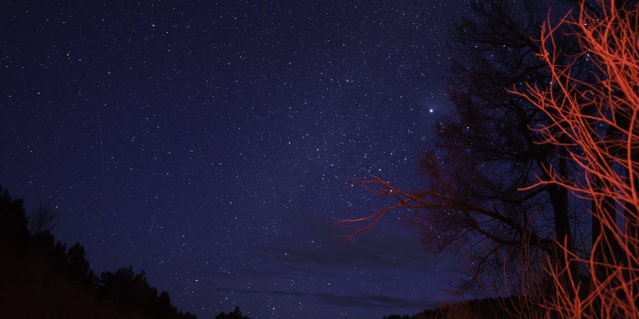 Pecos River Dark sky-meteor-Horizontal