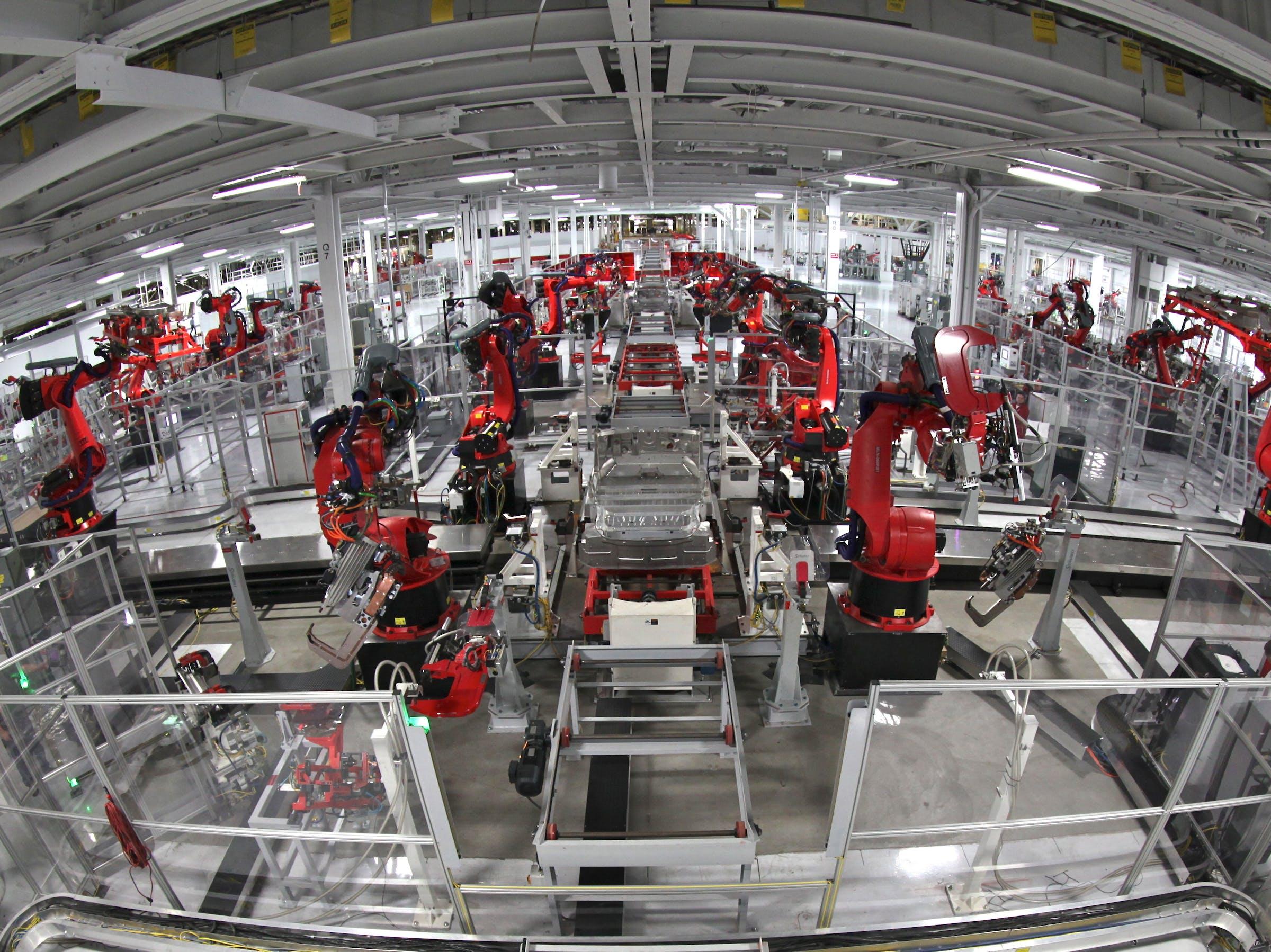 Tesla Motors Assembly Line