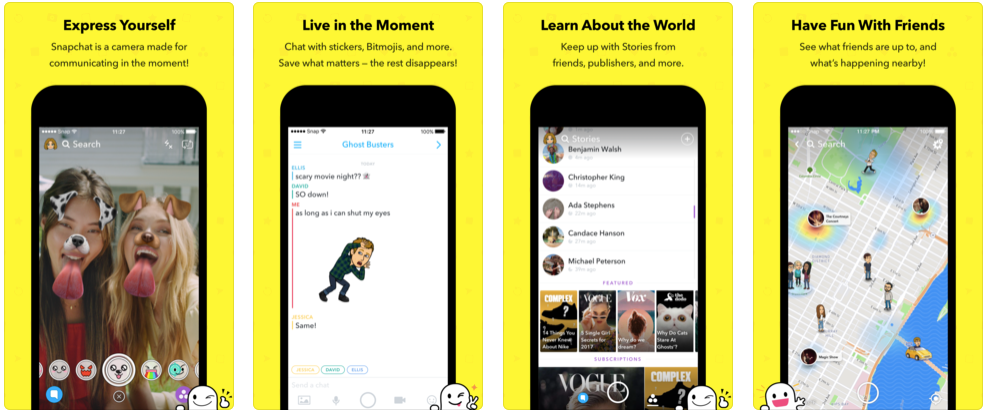 Snapchat pics app