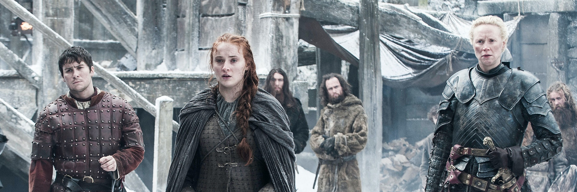 Sophie Turner and Gwendoline Christine in 'Game of Thrones'