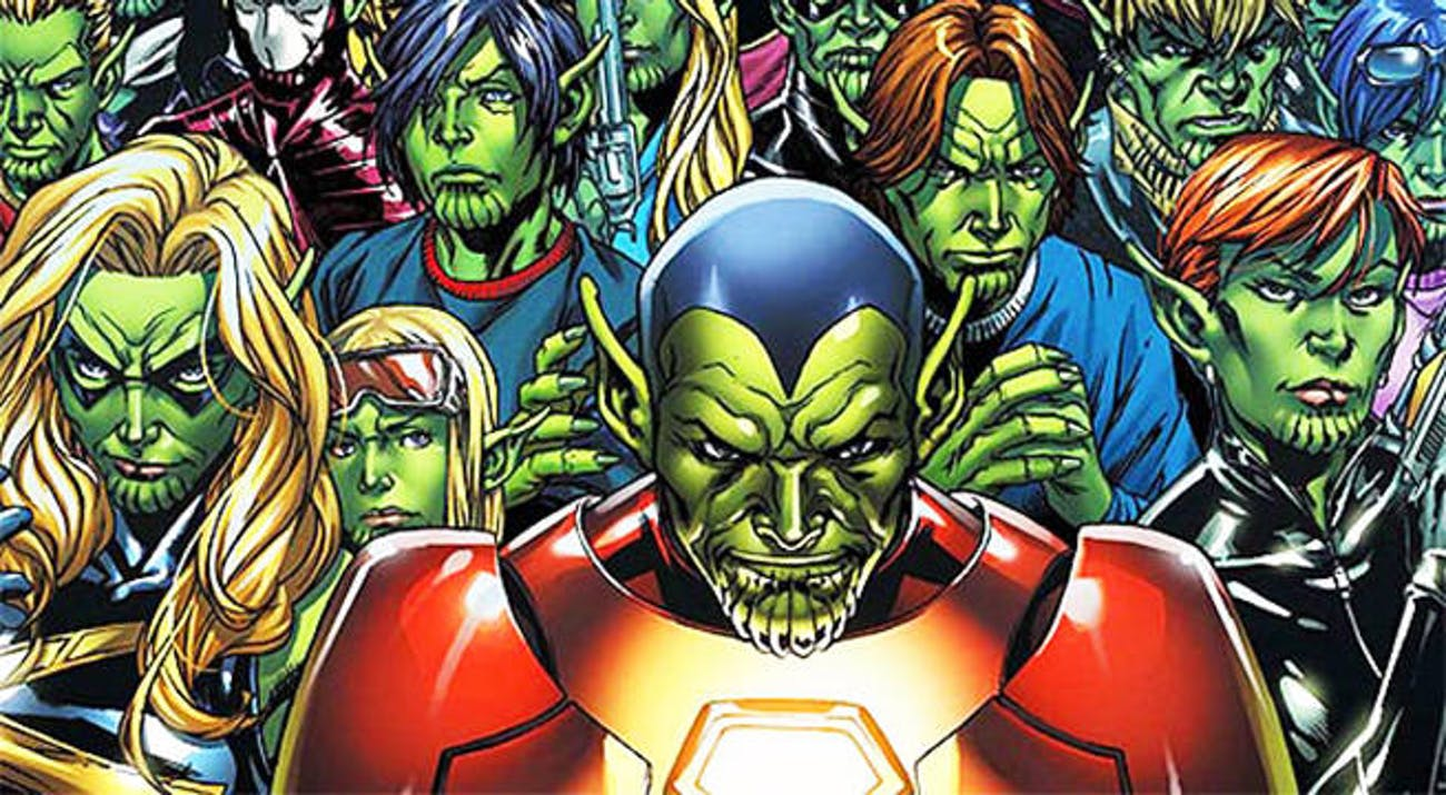 Many Skrulls took the forms of Marvel heroes in the comics in the 'Secret Invasion' arc.