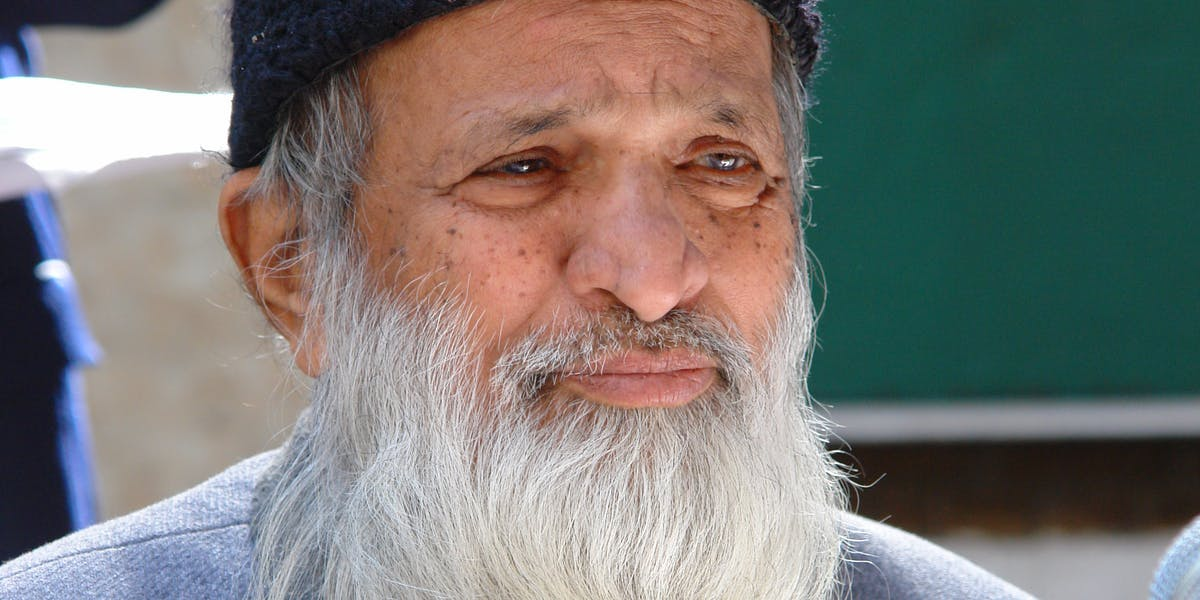 Edhi founded the world's largest volunteer ambulance service in Pakistan.