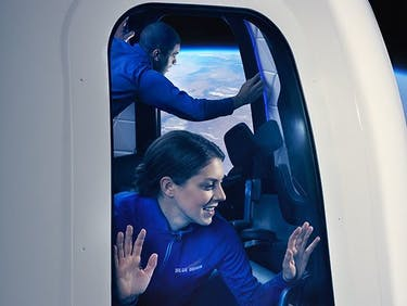 space blue origin tourism