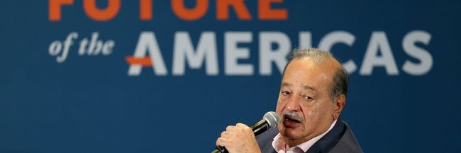 CORAL GABLES, FL - DECEMBER 11:  Carlos Slim, Chairman, Grupo Carso attends the Clinton Foundations Future of the Americas summit at the University of Miami on December 11, 2014 in Coral Gables, Florida. The summit is bringing together leaders from the private, public, and civic sectors across Latin America, the Caribbean, Canada, and the United States to work on economic prosperity, investment, and innovation opportunities across the Western Hemisphere.  (Photo by Joe Raedle/Getty Images)