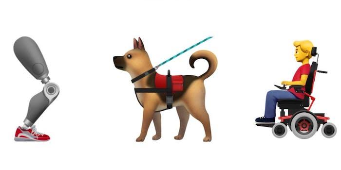 Apple's new accessibility emoji set